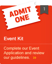 Event Kit - Complete our Event Application and review our guidelines.